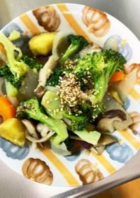 肉なし根菜たっぷり和風ドレッシングサラダ