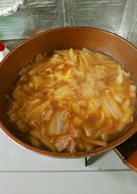 ヨウサマの減塩白菜とベーコンのスープ