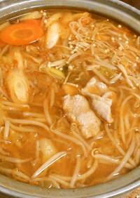ヘルシー☆豚の中肉で味噌キムチ鍋