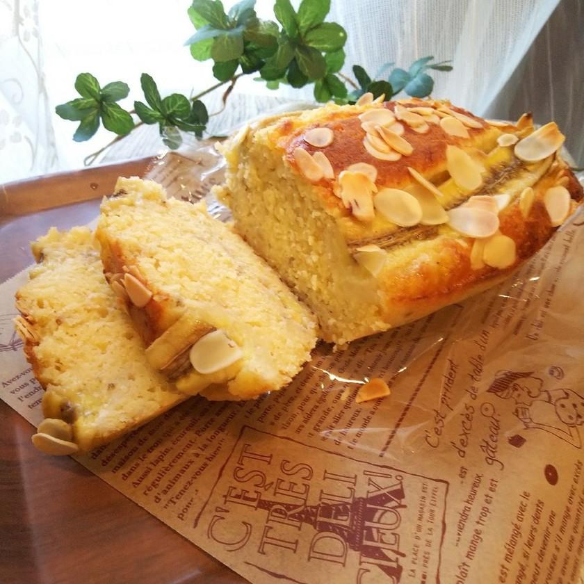 *アーモンドプードル入バナナケーキ*