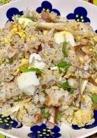 茹で卵と和風ハーブの混ぜご飯