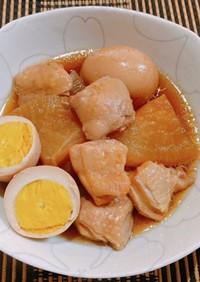 ★☆圧力鍋で鶏肉と大根、茹で卵の煮物☆★