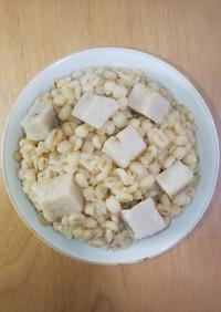 100%押し麦の麦味噌里芋麦飯