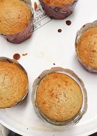 余った黒豆とHMで簡単カップケーキ