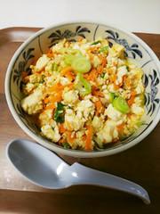 【簡単】♡人参とツナの炒り豆腐♡の写真