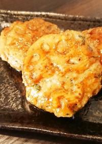 つくおきレシピ☆照焼きレンコンハンバーグ