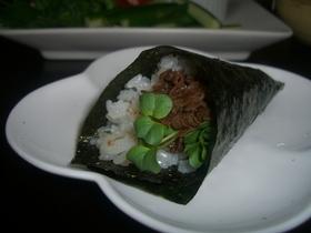 牛肉あまから de 手巻き寿司