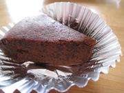 材料2つ簡単しっとりチョコケーキ炊飯器の写真
