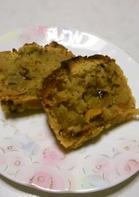 干し柿、栗、小豆のパウンドケーキ