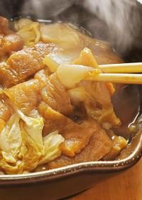 餅入り☆白菜と油揚げの甘辛煮
