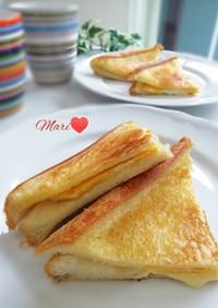フライパン!薄焼き卵&チーズホットサンド