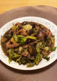 親鳥&野菜のオイスター炒め