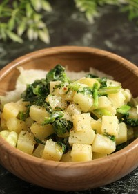 レンジで簡単!菜の花ポテトチーズ