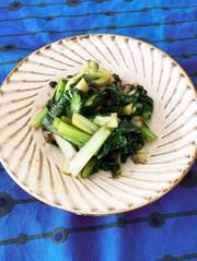 ターサイの豆豉炒めの写真