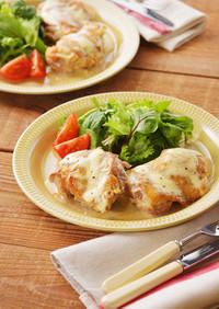 鶏もも肉の北海道♪チーズマスタード焼き