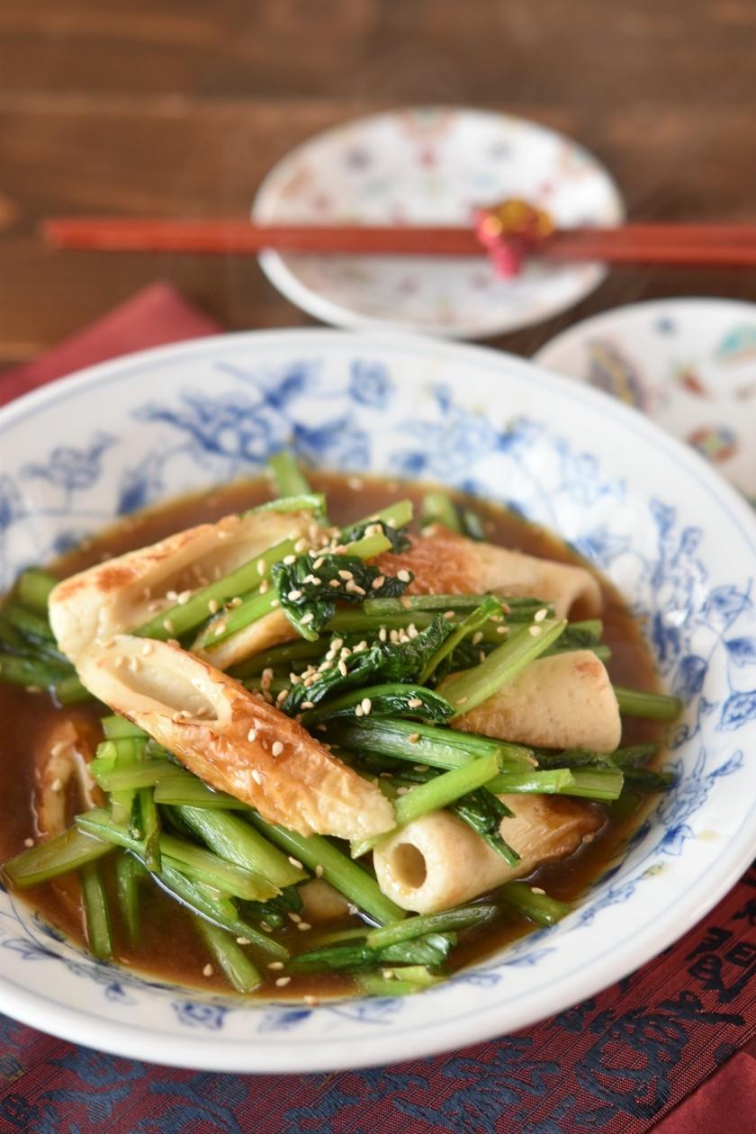 小松菜と竹輪の中華風炒め【作り置き】