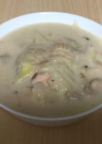 もも肉と鮭のスープシチュー