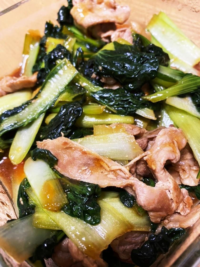 ターサイと豚肉のオイスター炒め