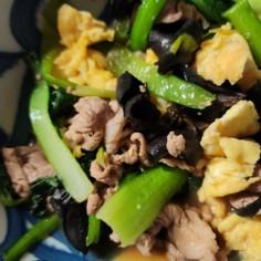 小松菜とたまごのオイスターソース炒め