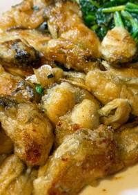 牡蠣とほうれん草のガーリックソテー