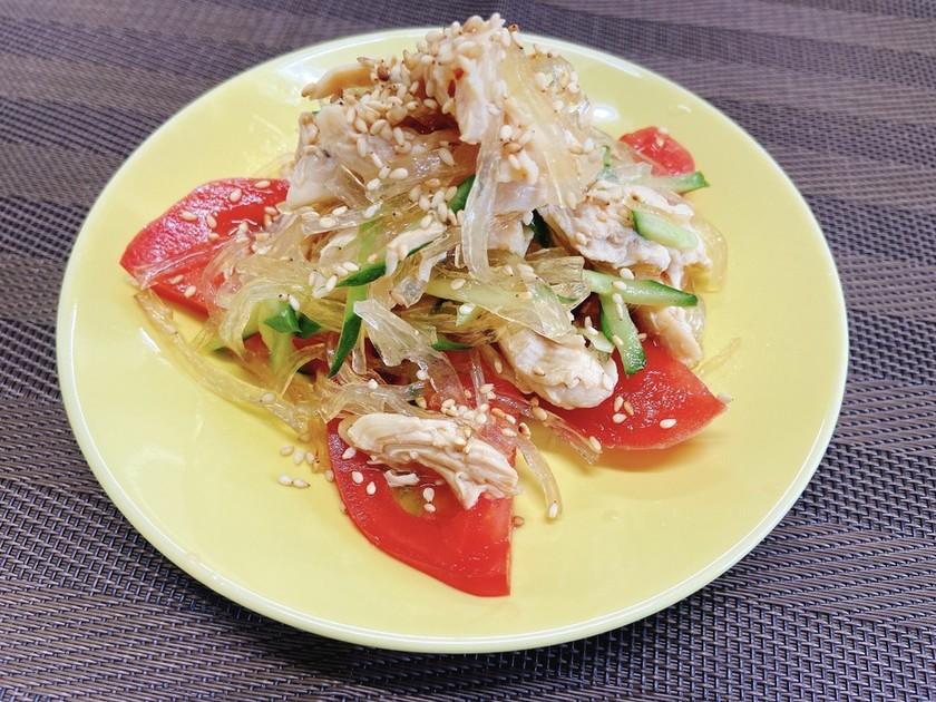塩麴のササミサラダ