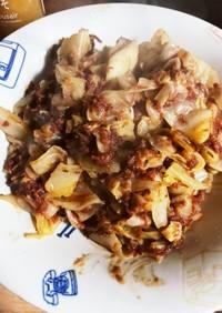 コンビーフとキャベツの炒め物