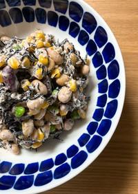 お豆とツナのひじきサラダ