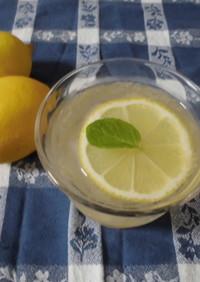 さっぱり♪レモンジャムソーダ
