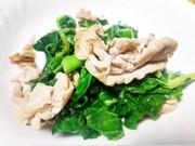 栄養価抜群「ケール」と豚肉のニンニク炒めの写真