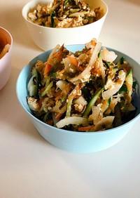 木綿豆腐と塩昆布のサラダ