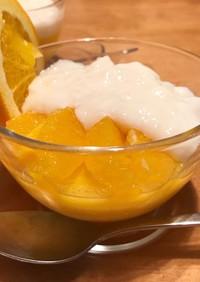 オレンジ丸ごとゼリー&ミルクプリン
