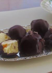 蜜柑ピール+クリームチーズ♥ビターチョコ