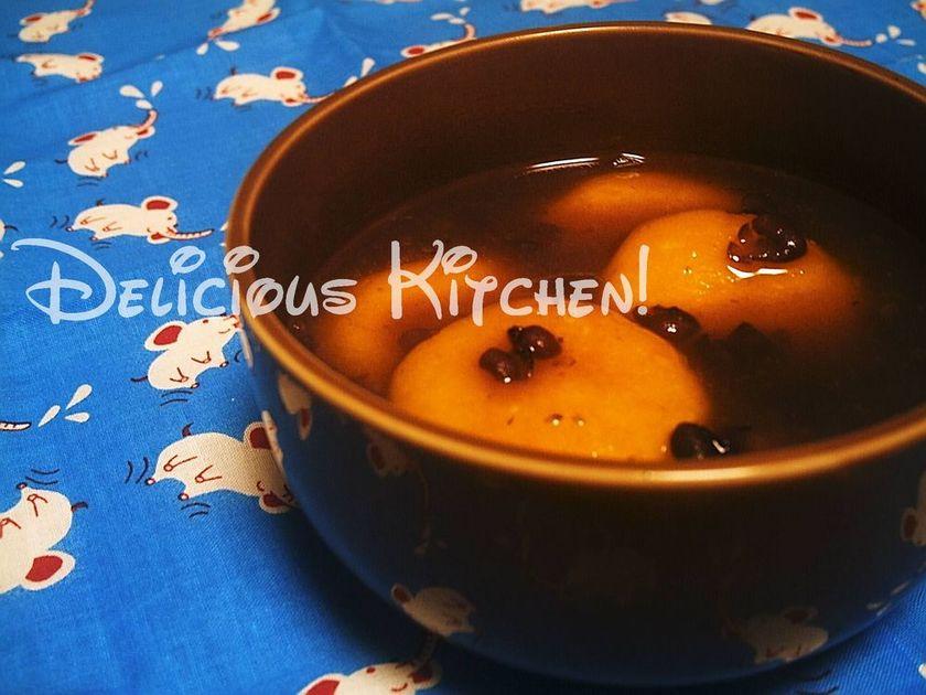 ばあちゃんの味♪かぼちゃ団子のお月見汁粉