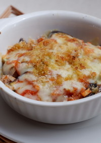 鯖缶レシピ!茄子とサバ缶のオーブン焼き