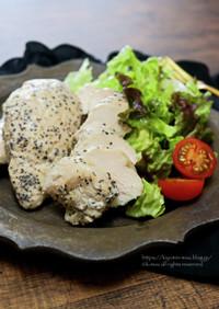サラダチキン・粗挽き黒胡椒味。