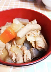 圧力鍋で一気に作るモツの味噌煮込み