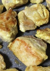 鶏むねのカレー風味焼き