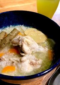圧力鍋で参鶏湯