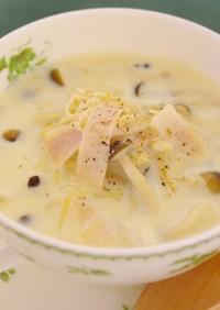 かんたん★きのこの豆乳スープ