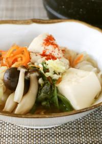 二人鍋♪千切大根と鶏胸肉のしょうが味噌鍋