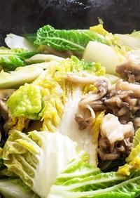 白菜と舞茸のあんかけ炒め