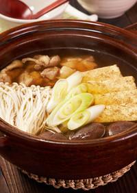 きのこと緑茶スープの和風だし鍋