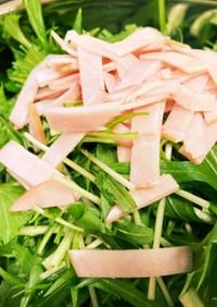 こども大好き。水菜の簡単サラダ