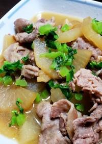 甘辛豚肉とトロッと柔らか冬大根の煮物☆