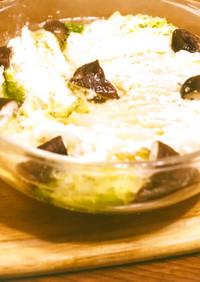 電子レンジで白菜のミルフィーユ