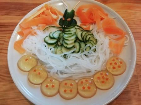 神龍に願いを!ドラゴンボールサラダ