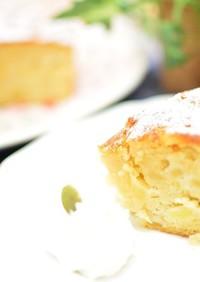 バターなし♬混ぜるだけの簡単リンゴケーキ