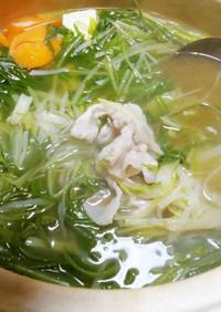 鍋(白髪ネギ・水菜・しゃぶ肉)