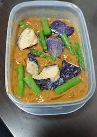 カレーお弁当(冷凍野菜トッピング)