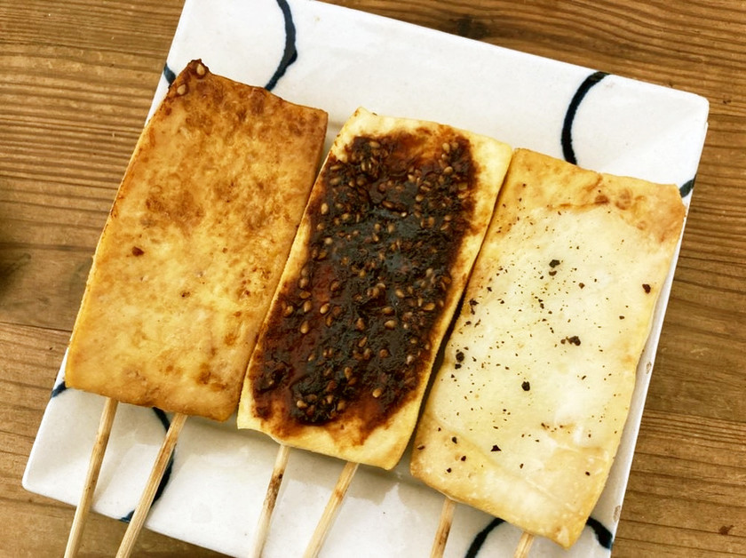 焼肉のついでに♪プレートで焼く豆腐田楽
